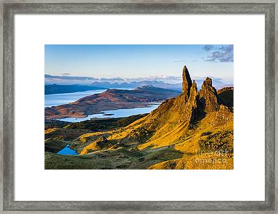 Old Man Of Storr At Sunrise Framed Print by Maciej Markiewicz