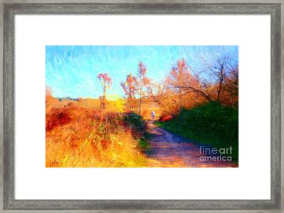Old Man On Path Framed Print