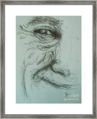 Old Man Smiling Framed Print