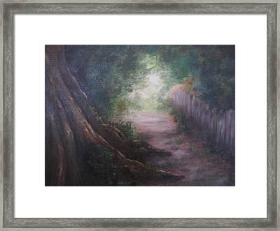 Old Man Tree Toll Road Framed Print