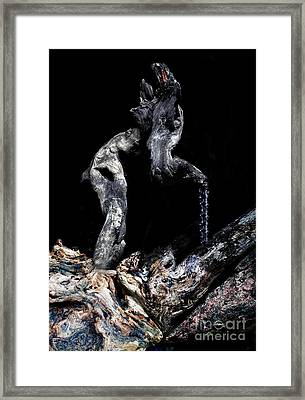 Old Man Walking Framed Print by Petros Yiannakas
