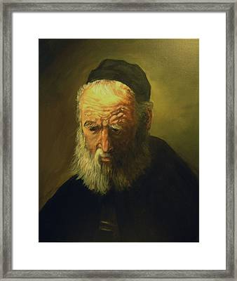 Old Man With A Cap Framed Print