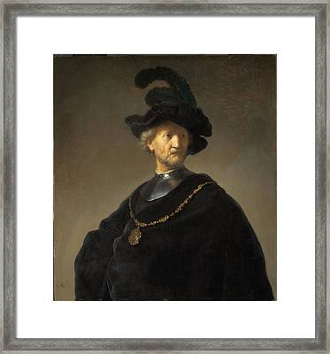 Old Man With A Gold Chain Framed Print by Rembrandt van Rijn