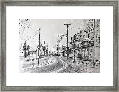 Old Manahawkin Framed Print by Martin Way