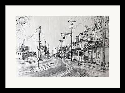 Route 9 Mixed Media Framed Prints