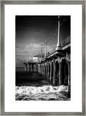 Old Manhattan Pier Framed Print