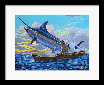 White Marlin Open Framed Prints