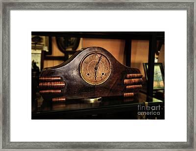 Old Mantelpiece Clock Framed Print by Kaye Menner