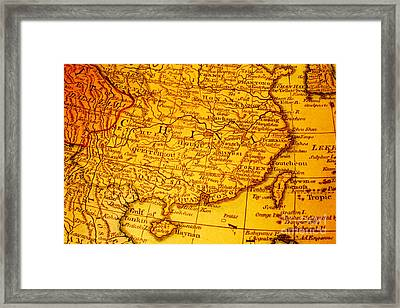 Old Map Of China And Taiwan Framed Print by Colin and Linda McKie