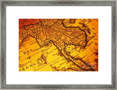 Old Map Thailand Siam Malaya Asia Burma Thailand Cambodia Laos Framed Print by Colin and Linda McKie