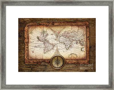 Old Maps Framed Print by Christo Grudev