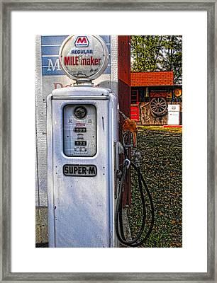 Old Marathon Gas Pump Framed Print
