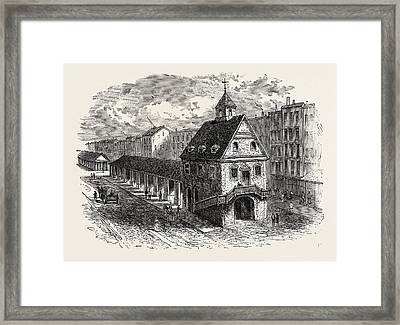 Old Market House At Philadelphia, United States Of America Framed Print by American School