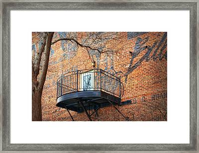 Old Market - Omaha - Metz Building - #4 Framed Print by Nikolyn McDonald