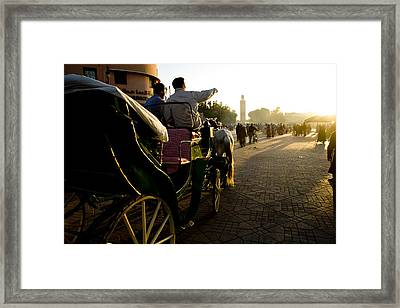 Old Marrakesh Scene Framed Print by David Smith