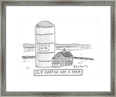 Old Martini Had A Farm Framed Print