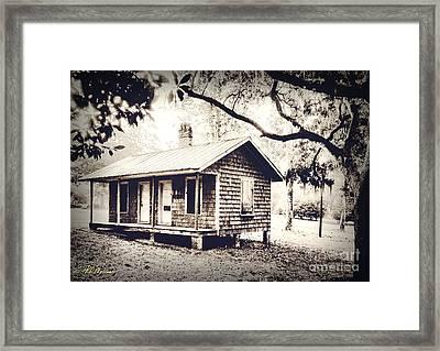 Old Masonboro Slave Cottage Framed Print by Phil Mancuso
