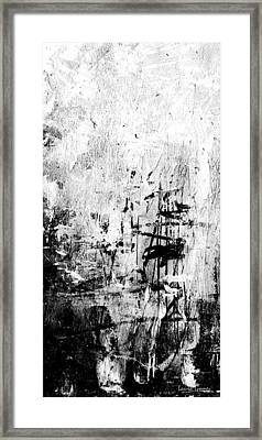 Old Memories - Black And White Abstract Art By Laura Gomez - Vertical Size Framed Print by Laura  Gomez