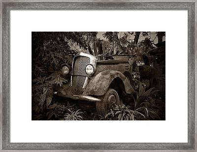 Old Mercedes Framed Print by Tom Bell