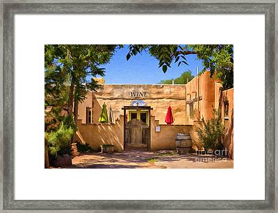 Old Mesilla Wine Tasting Room Framed Print by Priscilla Burgers