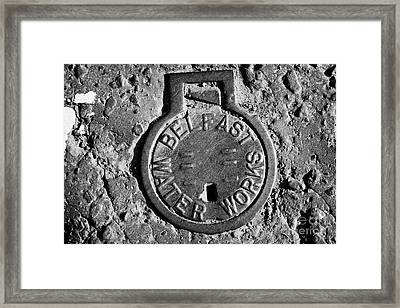Old Metal Belfast Water Works Access Point In The Road Belfast Northern Ireland Uk Framed Print