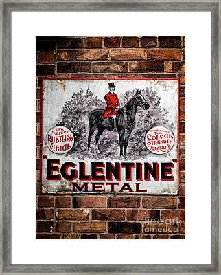 Old Metal Sign Framed Print