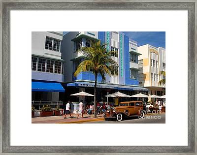 Old Miami Framed Print by David Lee Thompson