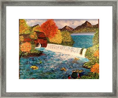 Framed Print featuring the painting Old Michigan Mill by Michael Rucker