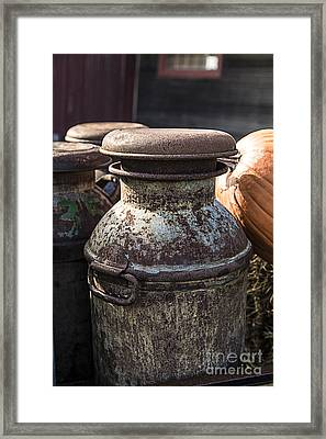 Old Milk Cans Framed Print