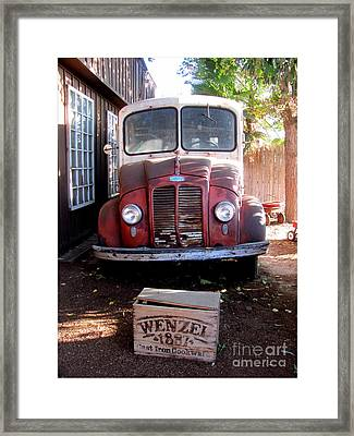 Old Milk Truck Framed Print