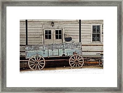 Old Mill And Wagon Framed Print by Cheryl Cencich
