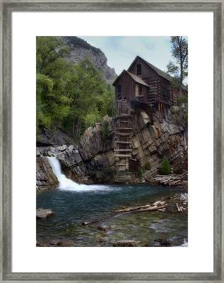 Old Mill At The Crystal River Framed Print by Ellen Heaverlo