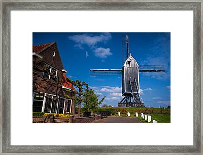 Old Mill In Brielle Framed Print by Jenny Rainbow
