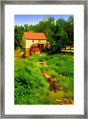Old Mill In Springtime Framed Print