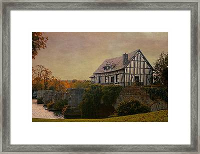 Old Mill On The Broken Bridge At Vernon Framed Print by Jean-Pierre Ducondi