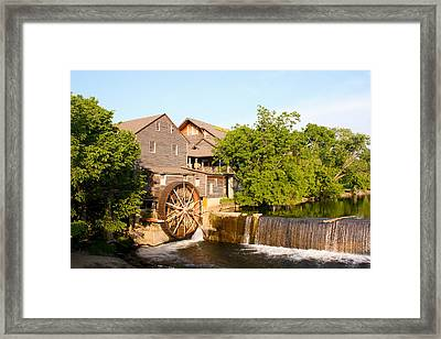 Old Mill Pigeon Forge Tennessee Framed Print by Cynthia Woods