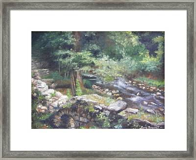 Framed Print featuring the painting Old Mill Steam II by Lori Brackett