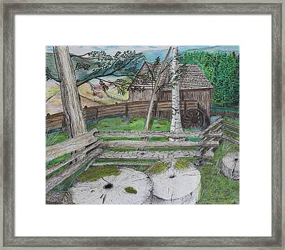 Old Mill Stones Framed Print by David Cardwell
