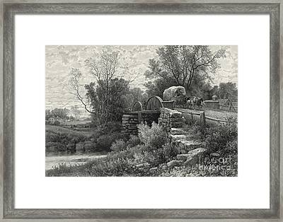 Old Mill Stream 1883 Framed Print by Padre Art
