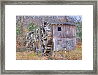 Old Mill Water Wheel And Sluce Framed Print