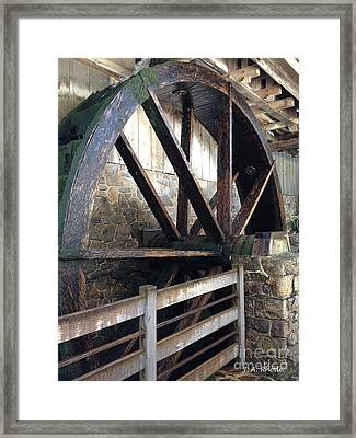 Framed Print featuring the photograph Old Mill Water Wheel by Jeannie Rhode