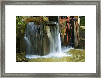 Old Mill Water Wheel Framed Print by Paul W Faust -  Impressions of Light