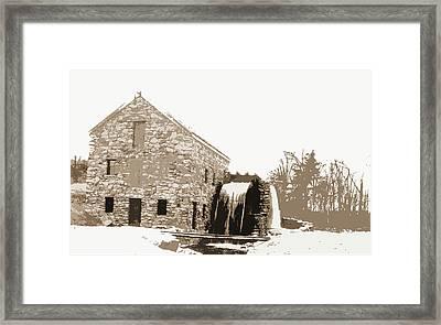 Old Mill, Waterwheel, Mills, Rivers, Waterwheels Framed Print