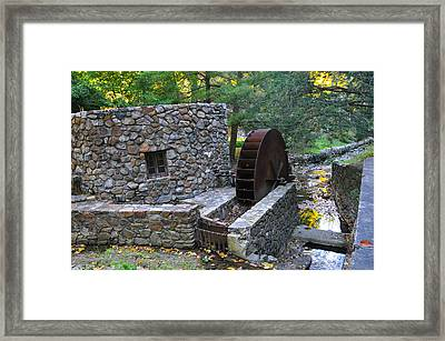 Old Mill Wheel Framed Print by Bill Cannon