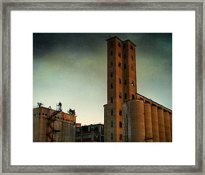 Old Buffalo Grain Mills Framed Print by Gothicrow Images