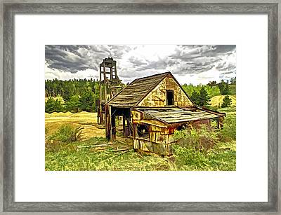 Old Mine In Central  City Co Framed Print by James Steele
