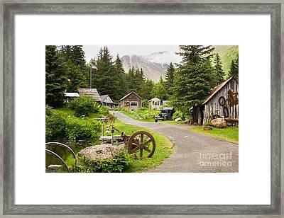 Old Mining Alaskan Town Framed Print