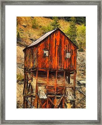 Old Mining Mill Framed Print by Dan Sproul