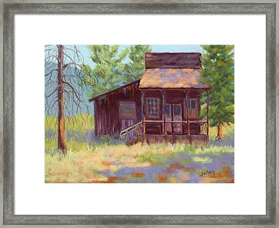 Framed Print featuring the painting Old Mining Store by Nancy Jolley