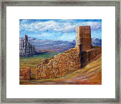 Old Mission Landscape New Mexico Framed Print